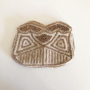 Vintage 30's tiny beaded coin purse